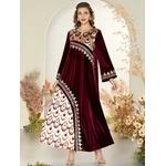 Grande-taille-Maxi-robes-pour-femmes-2020-hiver-l-gant-velours-rouge-manches-longues-Robe-indienne