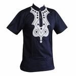 T-shirt-musulman-brod-haut-Dashiki-africain-mince-Ankara-v-tements-pour-hommes
