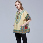 Robes-africaines-pour-femmes-unisexe-ethnique-t-shirt-Vintage-Tribal-avec-Dashiki-imprimer-100-haut-en