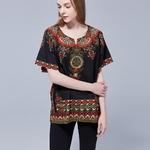 T-shirt-imprim-africain-Dashiki-en-coton-Hip-hop-Boho-unisexe-noir-ethnique-Vintage-Tribal