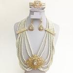 Mari-e-africaine-en-perles-dor-es-accessoires-de-luxe-bijoux-de-mariage-alg-riens-collier