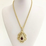 Arabe-maroc-pendentif-mode-dor-collier-Caftan-bijoux-Allah-collier-marocain-fille-robe-collier