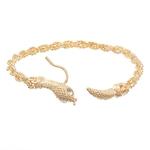 Bracelet-classique-de-style-marocain-bracelet-de-cheville-en-alliage-avec-t-te-de-serpent-fabriqu