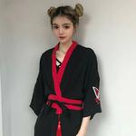 Kimono en veste légère avec ceinture japonais