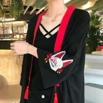 Kimono en veste légère avec ceinture