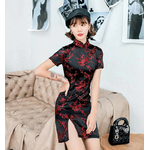 robe chinoise noir