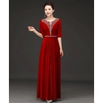 robe manches courtes rouge