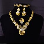 Parure de bijoux plaqué or