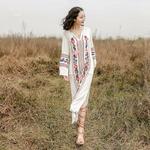 Robe longue dété blanche