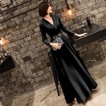 Robe longue sol noir