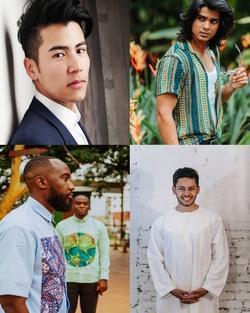 Vêtements homme tradiitonnels de tous les coutumes ethniques