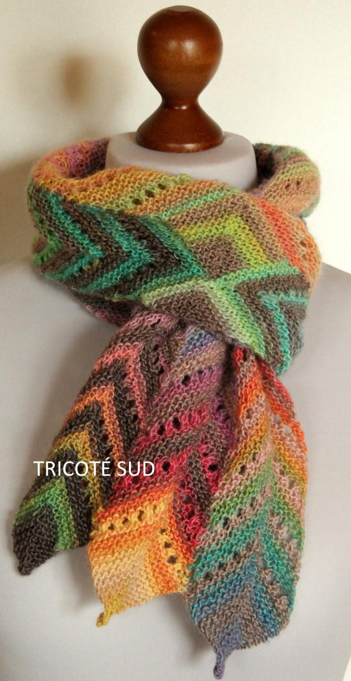kit charpe angline tricote en mille colori baby de lang yarns - Laine Lang Mille Colori Baby