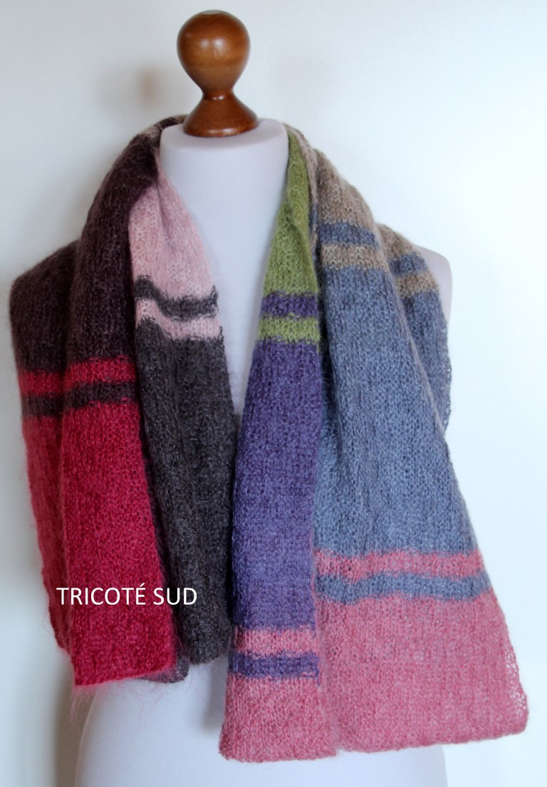 Echarpe mohair et laine - Tricoté pour vous Tricot adulte - Tricoté Sud 45af1cfae74