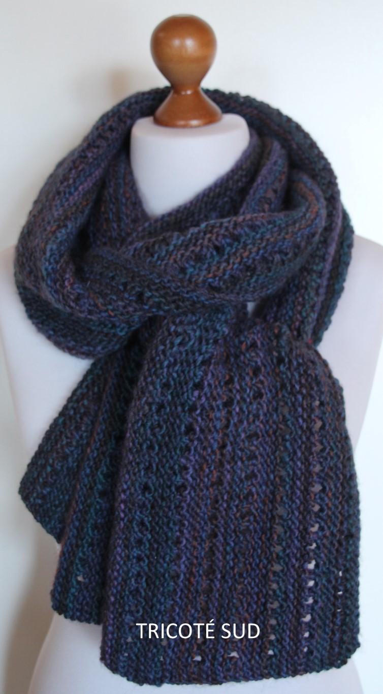 6be639a53f06 Echarpe tricotée main - Tricoté pour vous Tricot adulte - Tricoté Sud