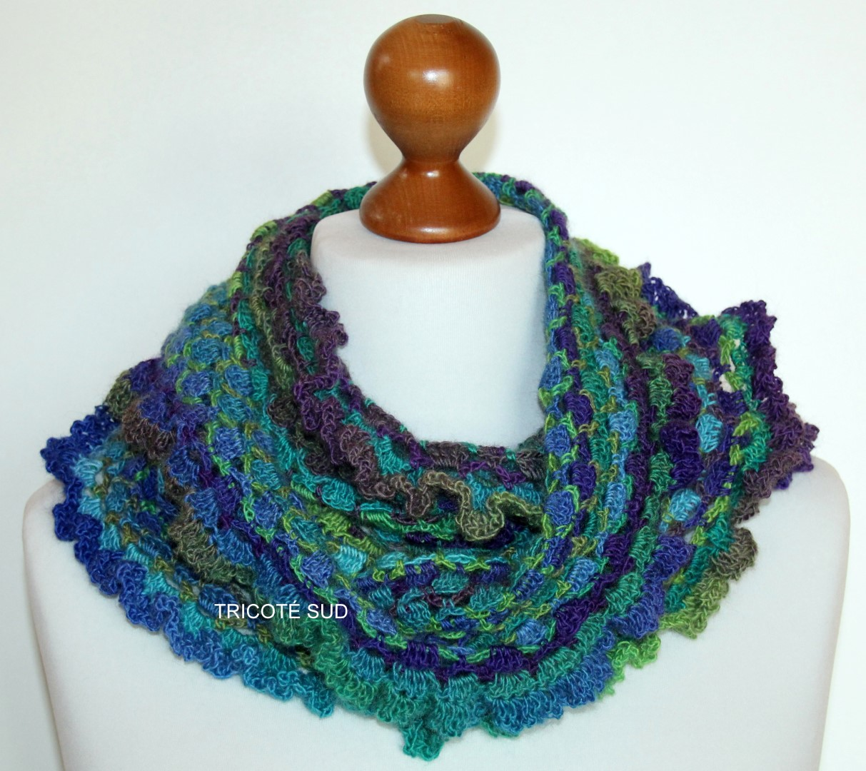 Kit Crochet Snood Et Mitaines Viviane