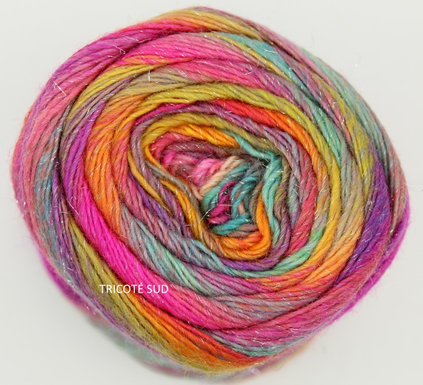 MILLE COLORI SOCKS AND LACE LUXE LANG YARNS COLORIS 53 (1) (Medium)