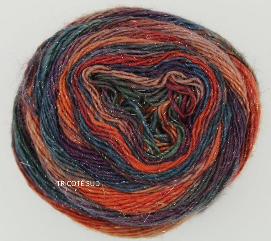 MILLE COLORI SOCKS AND LACE LUXE LANG YARNS COLORIS 16 (2) (Medium)