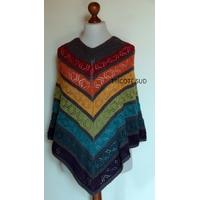 Kit tricot poncho Lucie Coton et Laine