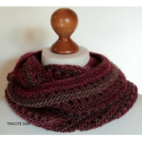Kit tricot snood Louise fil West