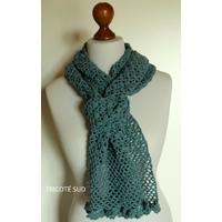 Kit écharpe Viviane version laine et coton