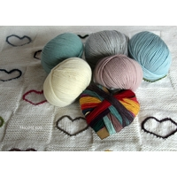Kit tricot couverture Petits Coeurs