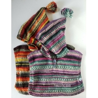 Kit tricot poncho Sacha tailles 3/6mois- 9/12mois - 18/24mois