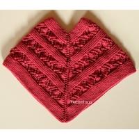 Kit tricot poncho Noémie fille