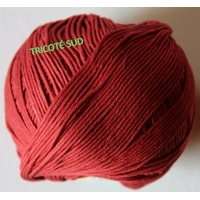 DMC  Natura Just Cotton coloris 34 BOURGOGNE