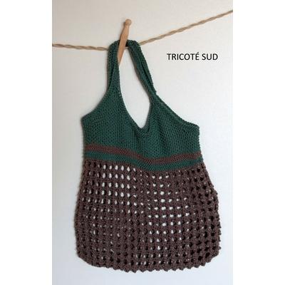 Sac filet Léontine version tricot