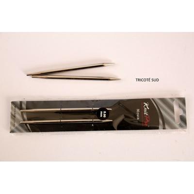 Pointes aiguilles interchangeables Knit Pro Nova métal