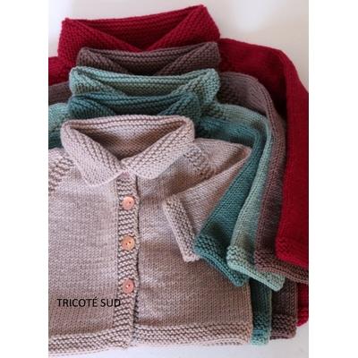 Kit tricot veste Coccinelle 3 mois - 2 ans