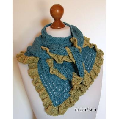 Kit châle Calypso laine et coton