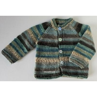Kit tricot veste David 3-6-12 mois