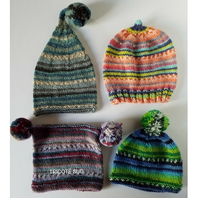 Kit tricot bonnet enfant