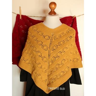 Kit tricot poncho ou châle Noémie