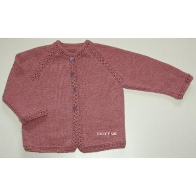 Kit tricot veste Agathe enfant