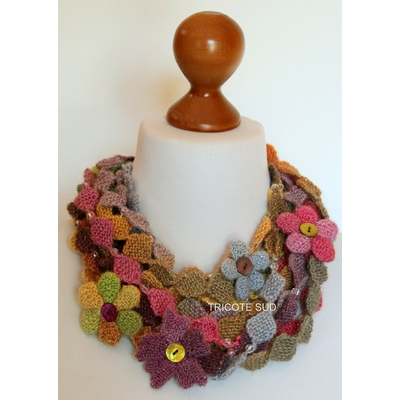 Kit tricot collier Ninon version Mille Colori Baby Luxe