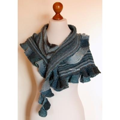 Kit tricot châle Agnès version Mille Colori Socks and Lace Luxe