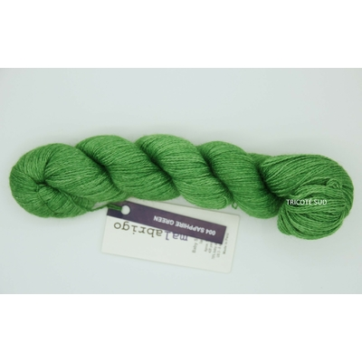 Baby Silkpaca lace coloris Sapphire Green