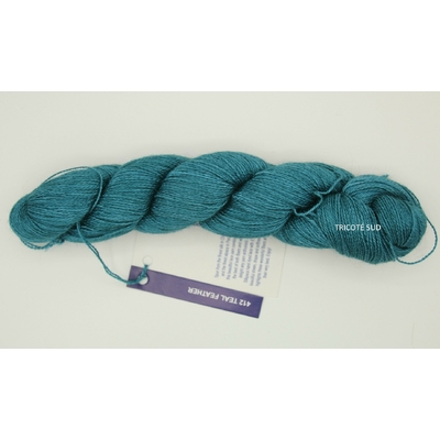 Baby Silkpaca lace coloris Teal Feather