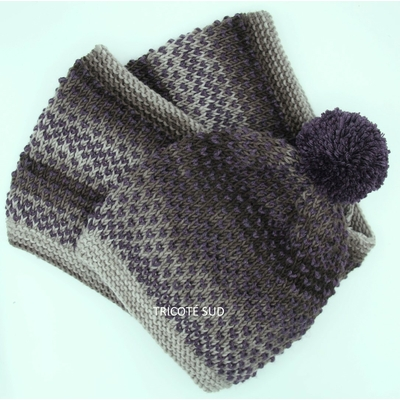 Kit tricot bonnet et snood Stella version Merino + de Lang Yarns