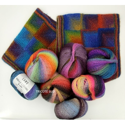 DELPHINE SNOOD MILLE COLORI BABY LANG YARNS TRICOTE SUD (Medium)