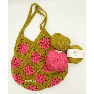 Kit crochet sac Papyrus version bicolore Alba de BC Garn