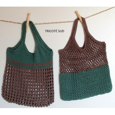 Kit sac filet Léontine version tricot ou crochet