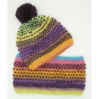 Kit tricot snood et bonnet Luciole