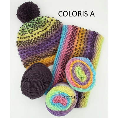LUCIOLE SNOOD BONNET COLORIS A (9) (Medium)