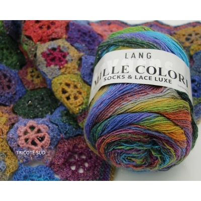 MILLE COLORI SOCKS AND LACE LUXE LANG YARNS COLORIS 52 (3) (Medium)