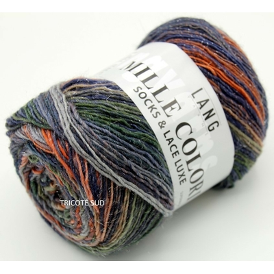 MILLE COLORI SOCKS AND LACE LUXE LANG YARNS COLORIS 57 (1) (Medium)