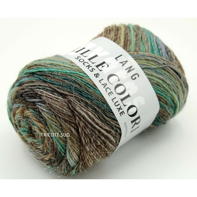 MILLE COLORI SOCKS AND LACE LUXE LANG YARNS COLORIS 58 (1) (Medium)