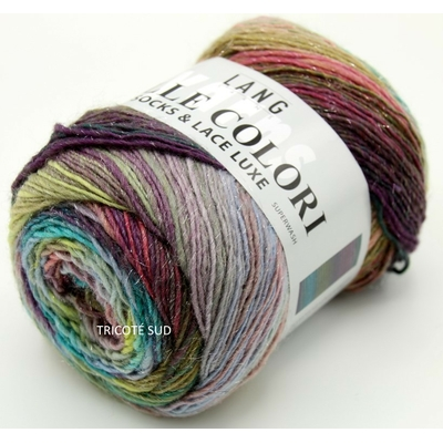 MILLE COLORI SOCKS AND LACE LUXE LANG YARNS COLORIS 151 (1) (Medium)